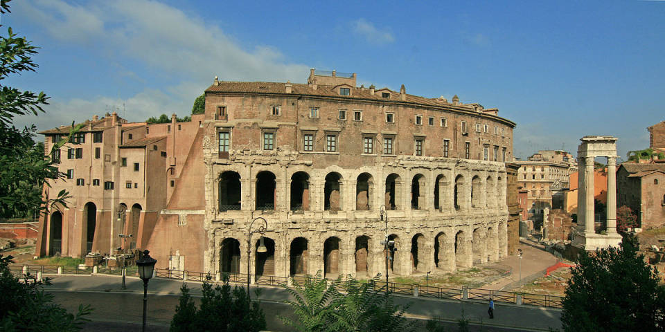 anceint Rome and the theater of Marcellus