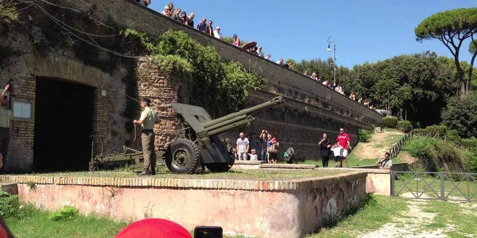 gianicolo hill canon