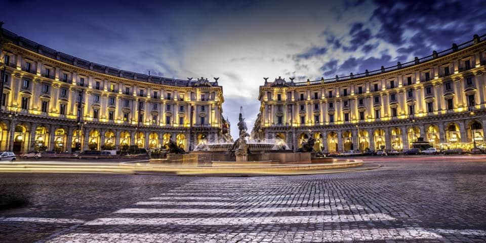 Naiad Fountain on piazza Repubblica in Rome