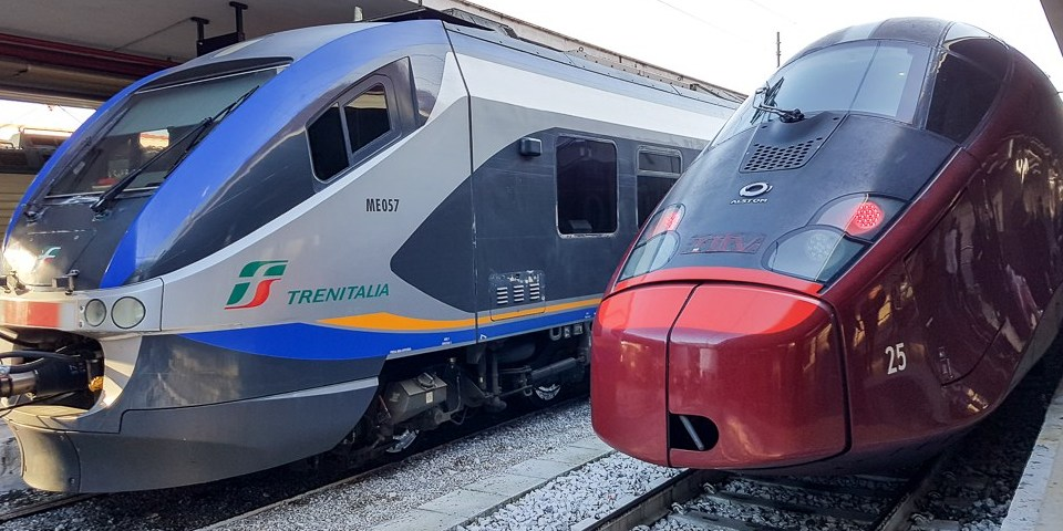 Train from Rome to Positano