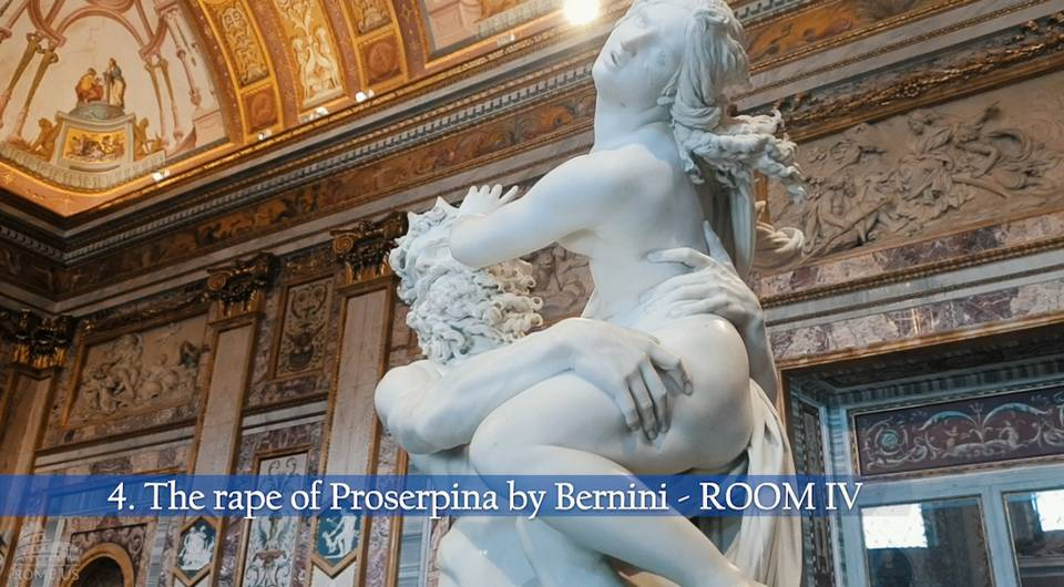 The Rape of Prosperina in Borghese Gallery