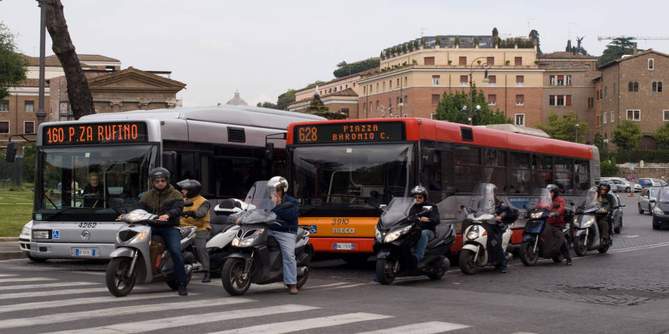 Public buses in Rome