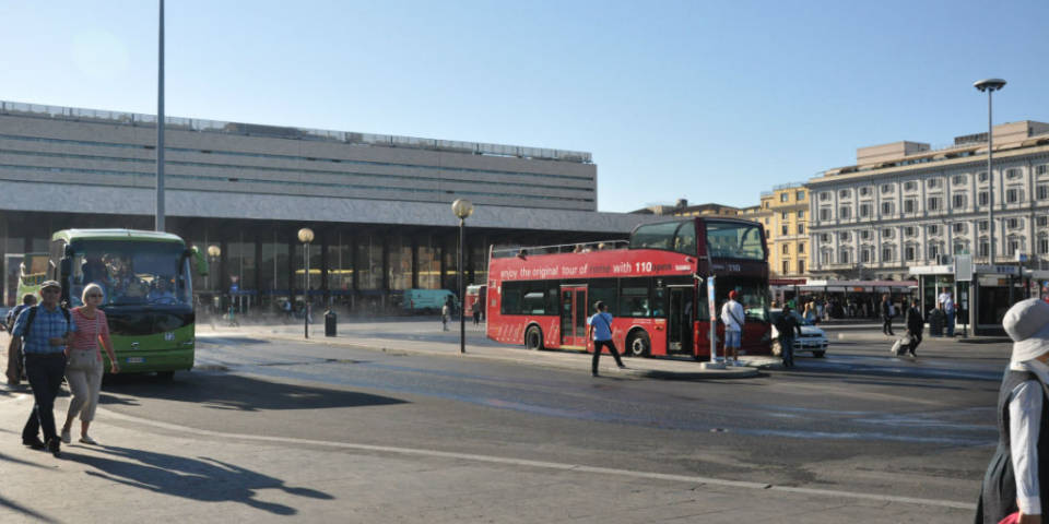 bus stop near termini station