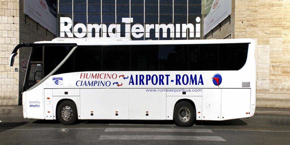 Rome airport bus from and to ciampino airport