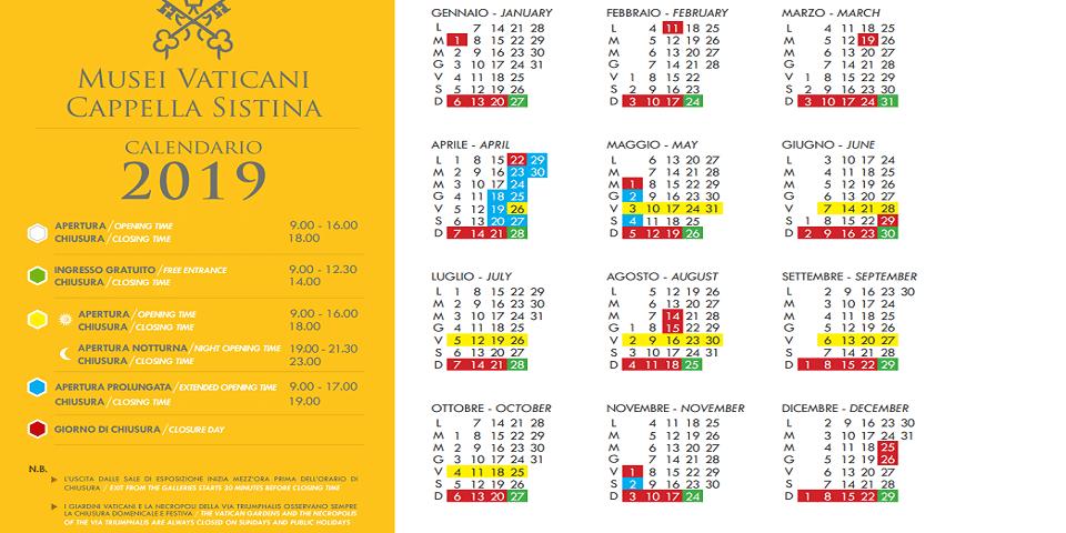 schedule of Vatican Museums in Rome