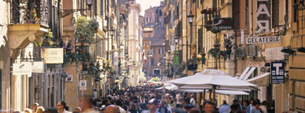 shopping streets in Rome