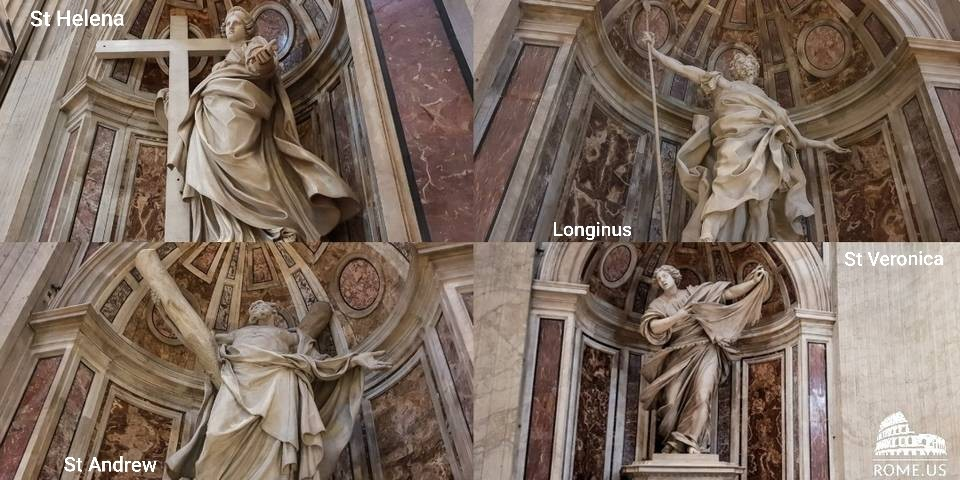 statues of saints in Vatican