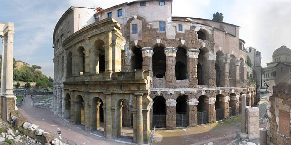 the theater of Marcellus in Rome