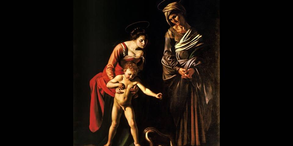 Madonna and child with Saint Anne by Caravaggio