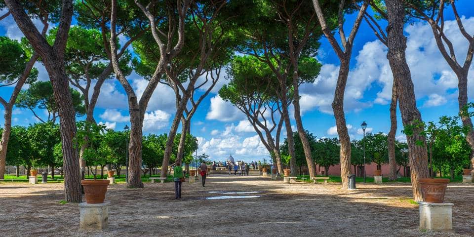 the orange garden in Rome