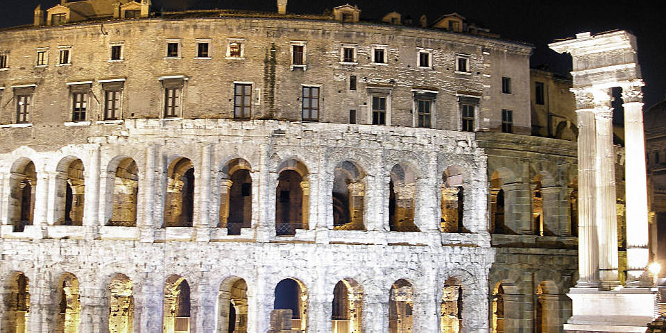 The Theater Of Marcellus In Night Time