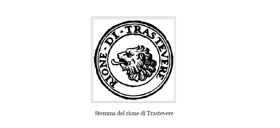 trastevere coat of arms