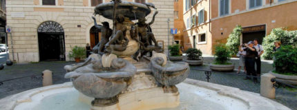 the turtle fountain in Rome