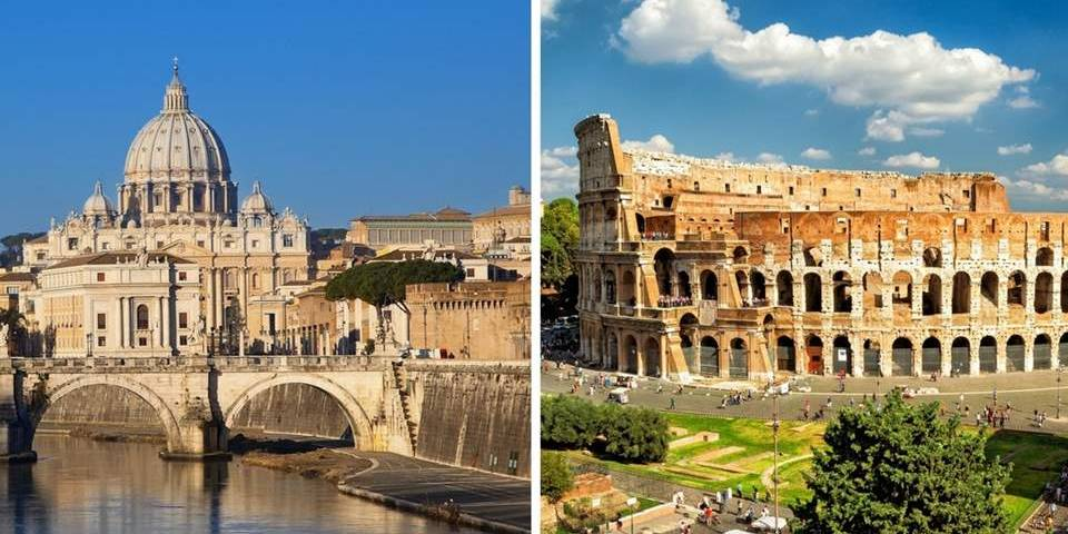 from vatican to colosseum
