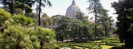 The Vatican Gardens in Rome