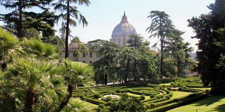 The Vatican Gardens in Rome