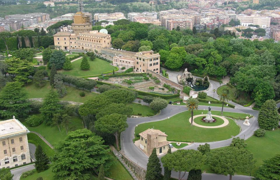 The Vatican Gardens view from the dome