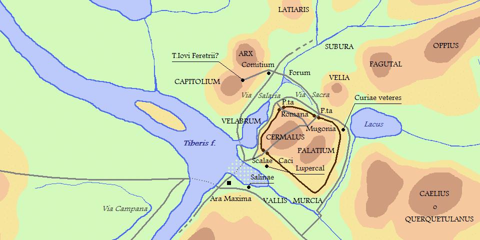 velian hill map of Rome